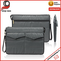 Nylon Laptop Sleeve Carrying Netbook Protector Case Cover with Front and Back Pockets