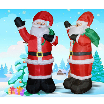 Santa father shape decoration christmas inflatables for celebrate christmas