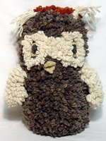Stuffed & Plush Toys- Giant Brown & Orange Hoot Owl