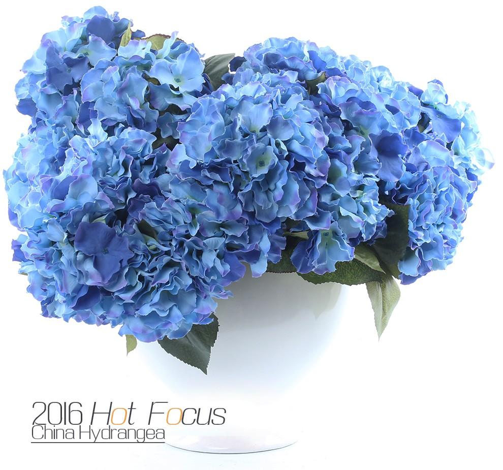 Silk Flowers Hydrangea Artificial Flowers Wholesale For Wedding Decor