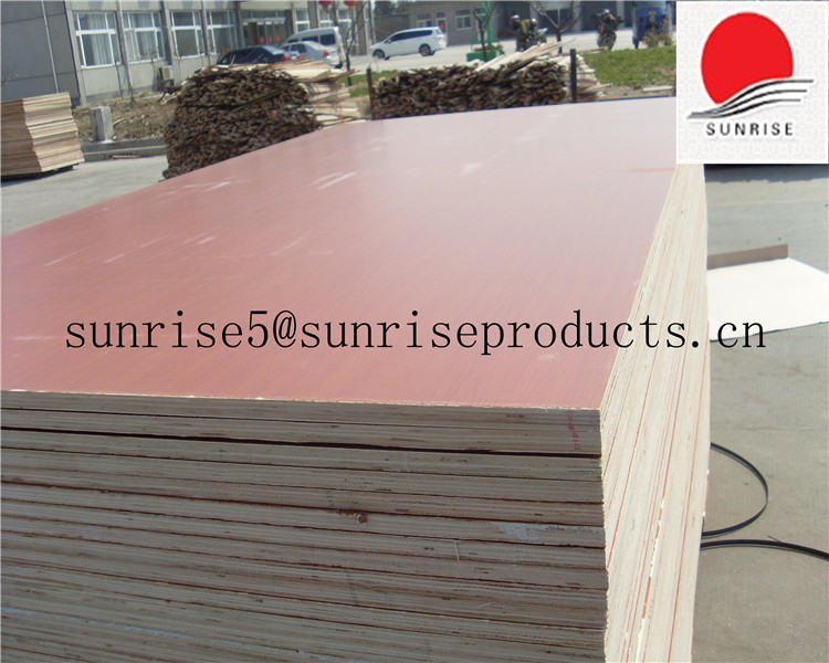 18mm cherry melamine plywood