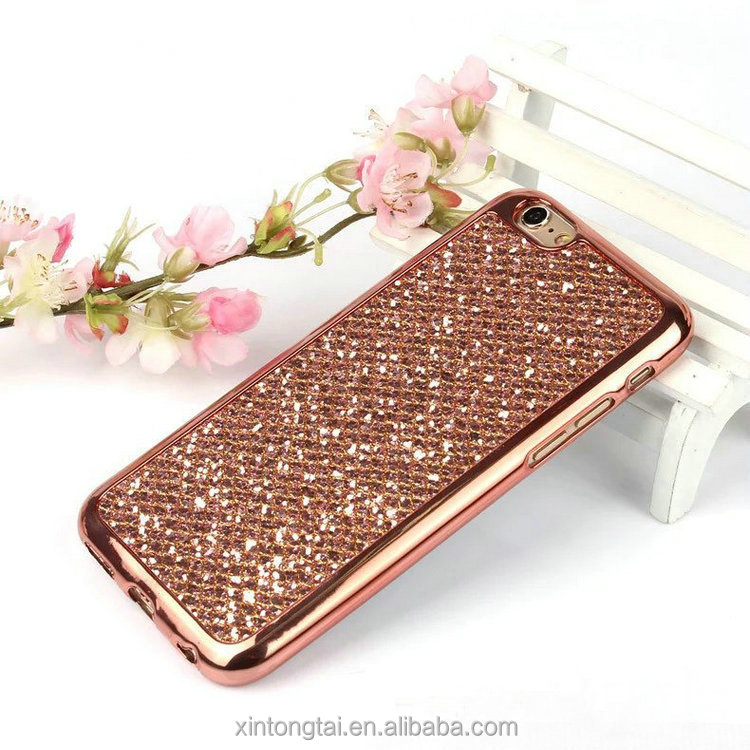 Glitter Rhinestone Diamond Bling mirror phone case crystal stone mobile cover for iPhone7
