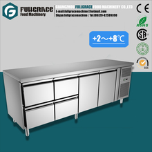 high quality 540L commercial food refrigerated cabinet with 4 drawers and 2 doors