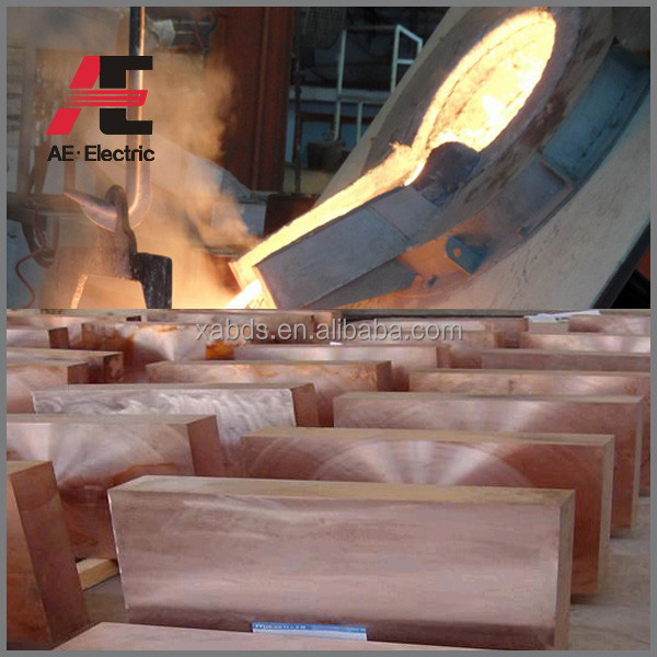 used red copper alloy round billet semi continuous casting machine