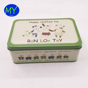 China cheap cosmetic tin packing boxes with hinged cover lid for home use