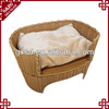 Eco-friendly handmade durable rattan orthopedic pet bed