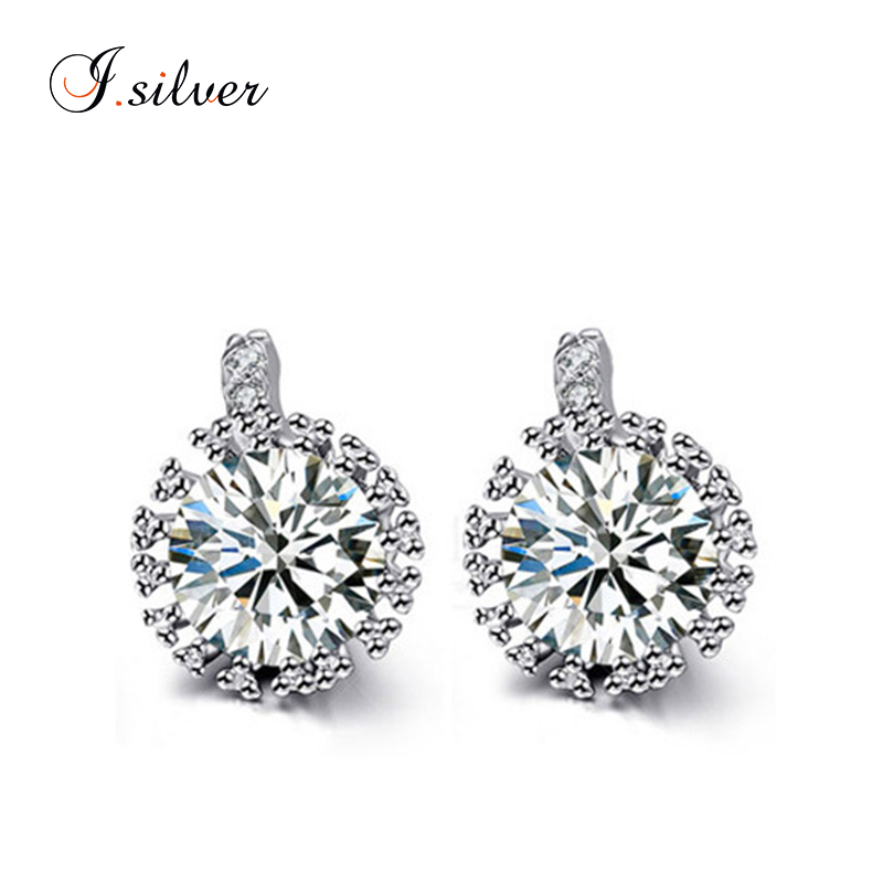 Fashion cubic zirconia stud 925 sterling silver earrings E10057