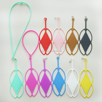 silicone material universal case cover for 4.7 inch cell phone with lanyard