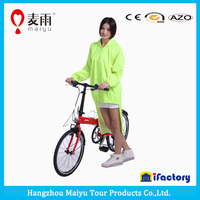 Maiyu hot sale waterproof cute rain poncho for women