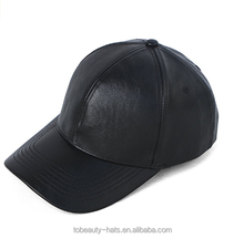 Classic Logo Baseball <strong>Cap</strong> PU customize logo with black color for wholesale
