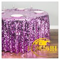 Manufacturer Cheap Glitter Metallic Polyester Sequin Table Cloth