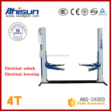 used hydraulic 2 post car lift for sale for home garage with CE,4000KG
