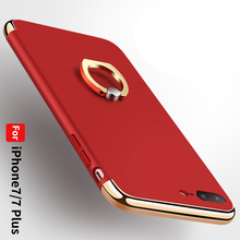 RED color ring stand 3 in1TPU case mobile phone back cover case for iphone7