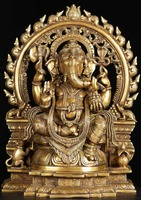 Buddhism antique metal bronze indian god statue for sale