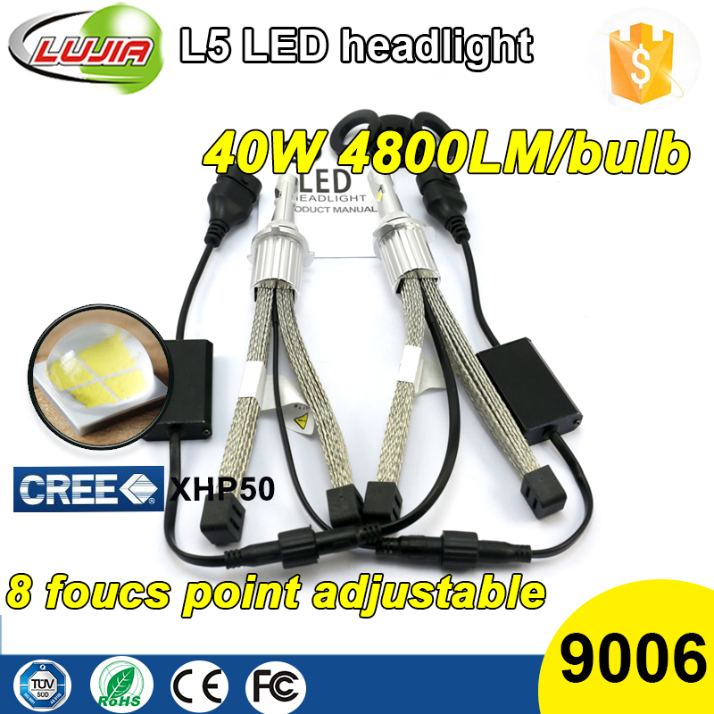 Heat Dissipation 6V XHP50 car led headlight kit car h3 bulbs HB3 car led headlight