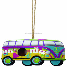 Personalized Hand Crafted Resin Bus Birdhouse