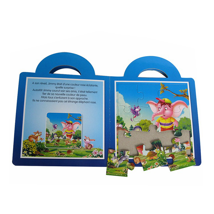 Children puzzle story reading books, offset puzzles book for kids