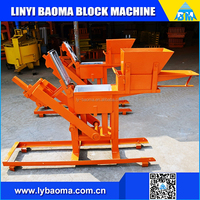 clay brick machine QM2-40 manual compressed earth block machine