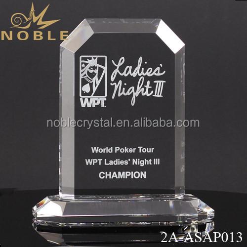 Unique Engraved Crystal Plaque Trophy Manufacturer