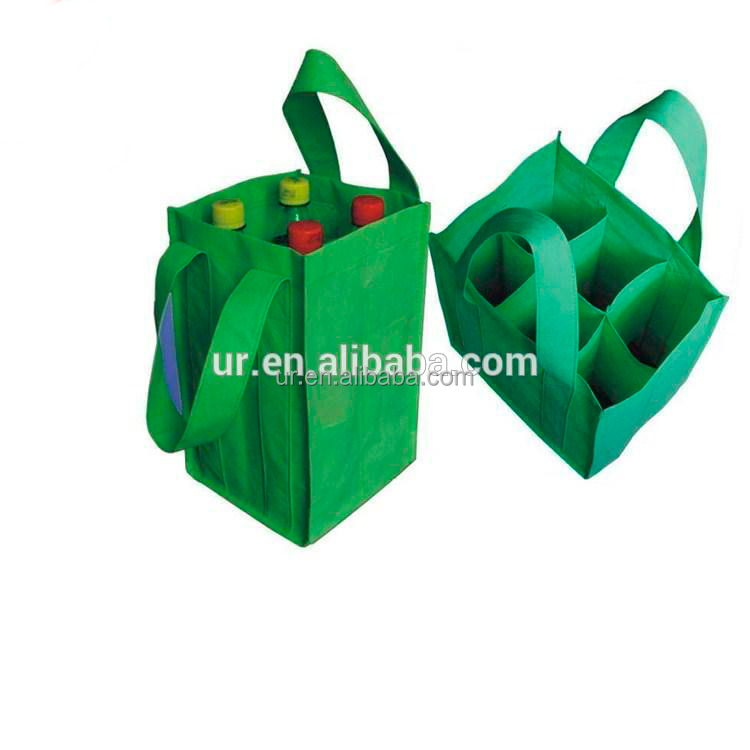 6 bottle non-woven pp wine travel bag