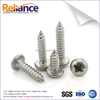 DIN7981 Phillips Pan Head Self Tapping Screw Stainless Steel 304 For Building