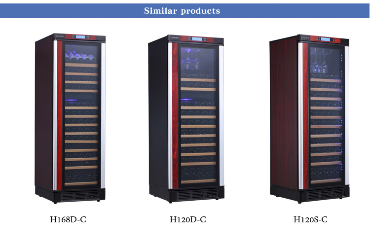 LVNI 53~70 bottles built in dual temperature humidity control wine cellar fridge