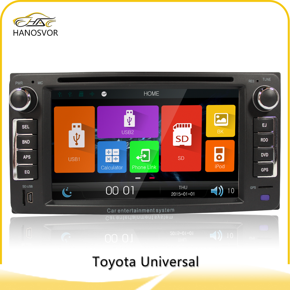 "wholesale price toyota 6003B 2 din 6.2"" universal car dvd gps with mp4"