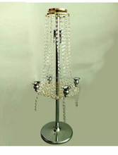 Wedding crystal table centerpiece chandelier flower stand decoration
