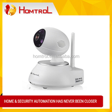 Fashionable Design P2P IP PTZ Wireless Camera 3 Mega Pixel High Speed 128GB TF Recording Wireless Wifi IP Camera Homtrol