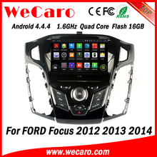 Wecaro WC-FF7305 Android 4.4.4 car dvd HD for ford focus double din radio 2012 2013 2014 TV tuner