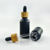 USA market 30ml matte black red white green blue glass dropper bottle with bamboo wood lid