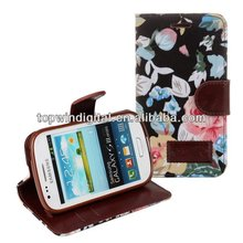Wallet Leather Cover Case for Samsung Galaxy S3 Mini i8190