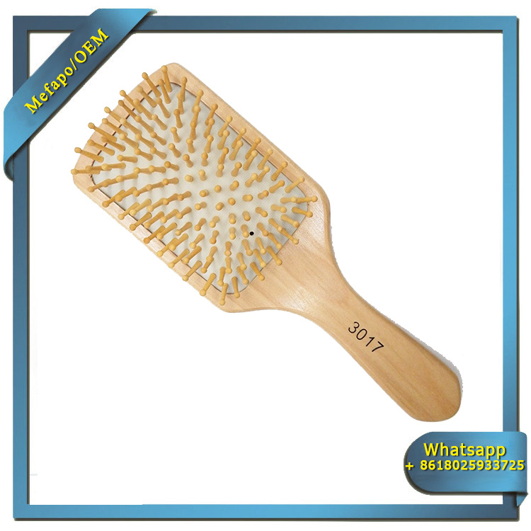 Private Label Hairbrush Wood/Natural Bristle Wooden Hair Brush