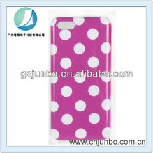 tpu material white wave point case for iphone 5c