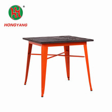 ZHENXING Home Made Simple Design Iron Square Metal Wood Top Italian Style Coffee Table