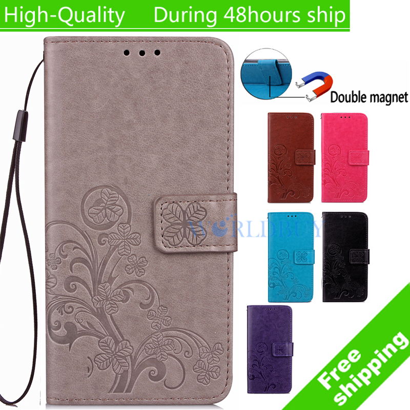For Samsung Galaxy S4 Mini i9190 Clover Book printed pattern Leather Case TPU Back Cover Flip Shell Stand Wallet Bag Card Holder