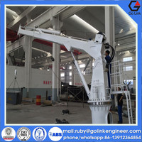 quality assurance supplier hydraulic/electric small telescopic crane used for deck/ship/platform/barge/boat