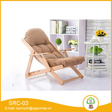 Modern style wooden folding multi-position reclining chair