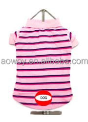 Promotional Pet Products Striped Polo Dog Shirt Rose Shadow Dog Pet Clothing