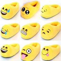 2016 Factory price high quality cheap emoji hotel slipper