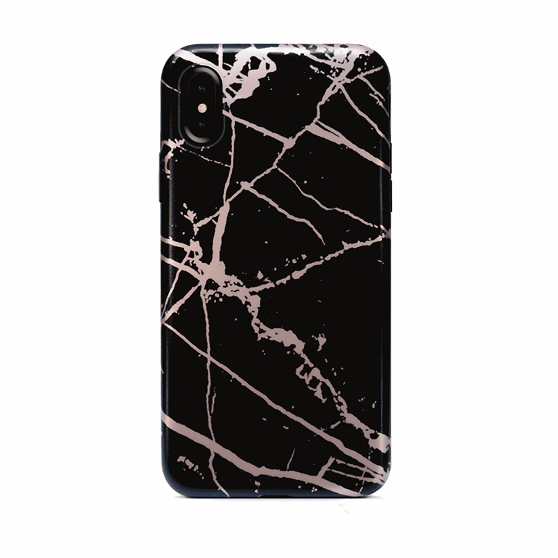 China factory customized marble chrome phone case for iphone