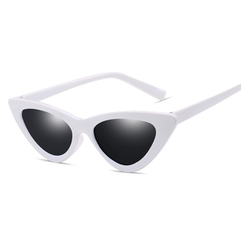Retro Vintage Black White Cat Eye Sunglasses for Women High Quality New Women Fashion Sexy Sun Glasses UV400 Cat Eye Sunglasses