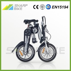 16 Inch Adult Folding Bike with 3 Speed Gears Black SP16BS-B