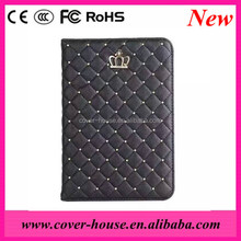 Elegant Bling bling Diamond bling Crown Flip Leather Case for iPad PRO Air mini 4
