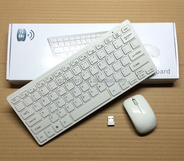 2.4GHz wireless keyboard mouse combo,wireless keyboard and mouse fortable pc white