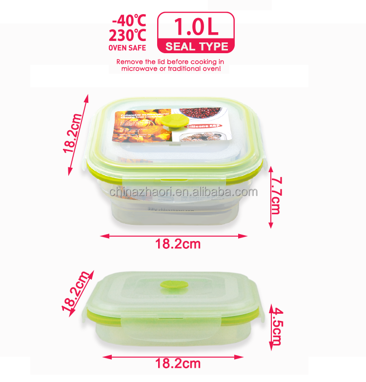 silicone food container airtight fresh box for food storage