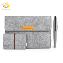 Custom Felt Laptop Sleeve Case Netbook Carrying Bag with USB Pouch Bag