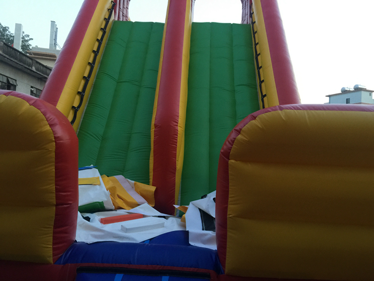 Cheap Children Used Inflatable Water Amusement Park Slide With Pool