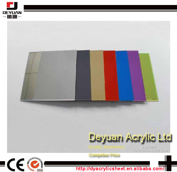 Colored mirror finish acrylic sheets stickers