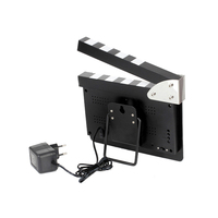LED digital rechargeable film clapper board, action director alarm clock movie clapper